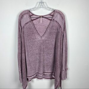 Free People Boxy Thermal long Sleeve Top
